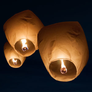 ECO Himmelslaternen Deluxe 5er Set sky lantern weiss